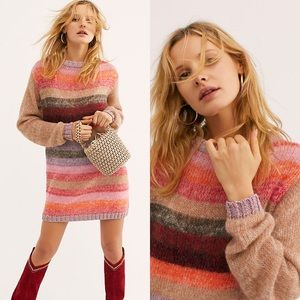 Free People | Bring It Up Sweater Dress sz xs